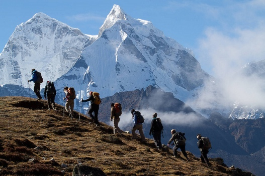Trekking above Pheriche. Photo by Didrik Johnck